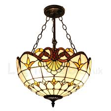 diameter 40cm 16 inch handmade rustic retro chandeliers multicolor pattern glass shade bedroom living