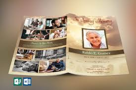 Funeral Program Word Template Cool Forever Funeral Program Publisher Word Template
