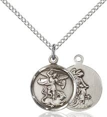 st michael pendant with guardian