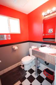 Disney Cars themed bathroom, complete with bathroom finishes by http://www.