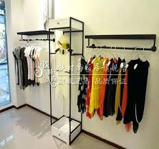 diy pipe clothing rack wall mounted diy design idea ideas for wooden clothes rack