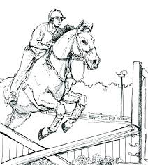 Horse Racing Coloring Pages At Getdrawingscom Free For Personal