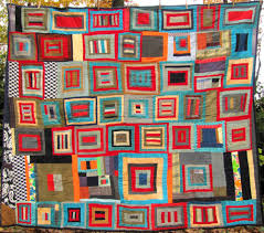 The Rickrack Rag » ◦Antique quilts & corduroy reversible tied quilt Adamdwight.com