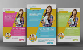 School Brochure Template Collection School Brochure Template Kids Flyer Templates Creative 1