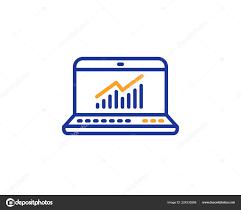 Data Analysis Statistics Line Icon Report Graph Chart Sign