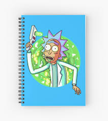 Rick And Morty Designs Rick And Morty Design Spiral Notebook By Carterjay