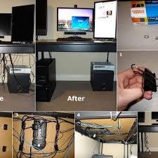 Easy computer cables organizer