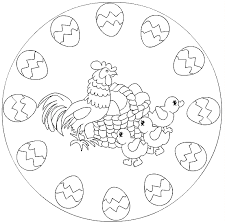 Kleurplaten Pasen Mandala
