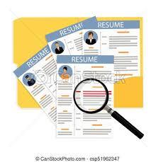 Cv And Resume Vector Illustration Business Portfolio Employment