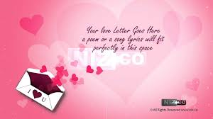 Valentines Day Letter Template Love Letter Template With Hearts New Video Love Letter Template For