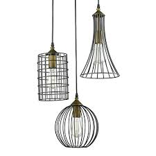 wire cage pendant light cage pendant light in lighting antique 3 lights island oil rubbed bronze
