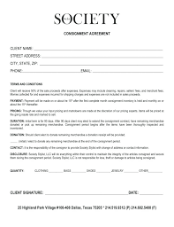 consignment form for cars consignment contract template download free documents sample