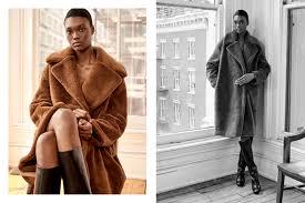 h m premium essential fur coat