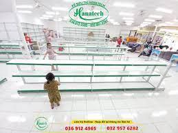 Kệ cửa hàng mẹ và bé tại Bến Tre   Giá Kệ siêu thị tại Bến Tre Hanatech