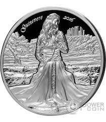 guinevere camelot knights round table 2 oz silver coin 10 cook islands 2016