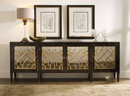 console table with glass doors