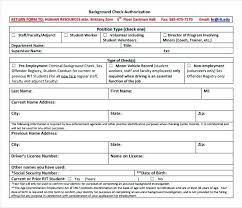 Background Check Form Template Free Templates Download Authorization ...