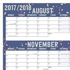 2017 2018 Academic Wall Planner Calendar Home Or Office