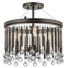 piper modern chandelier style low ceiling light with glass beadetal and glass rods