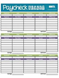 Bill Budget Worksheet - Kleo.beachfix.co