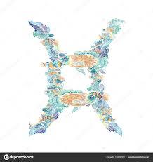 знак зодиака рыбы вектор векторное изображение Kisika1 184950378