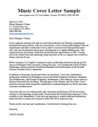 Music Cover Letter Sample Writing Tips Resume Companion