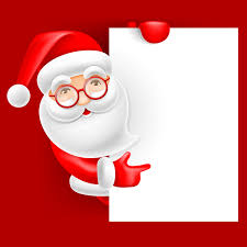 Blank Christmas Background Cute Santa With Christmas Blank Background Vector 01 Free Download