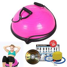 Free Exercise Ball Chart Ritfit Balance Ball Trainer With Resistance Bands Free Hand Pump Resistance Bands Exercise Wall Chart Workout Dvd Measuring Tape Pink