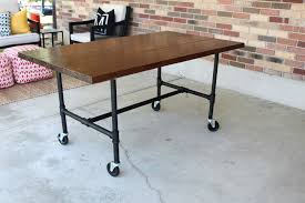 galvanized pipe desk fresh diy plumbing pipe table tutorial best tutorial i have found to date