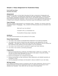 Essay Assignment Examples Sample 1 Essay Assignment For Illustration Essay