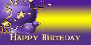 Purple Happy Birthday Banner Happy Birthday Banner Star Balloon Purple Vinyl Banners
