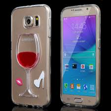 Details Wholesale Red Wine Cup Liquid Transparent Case Cover for Samsung