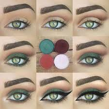the green smoky eye makeup looks for green eyes