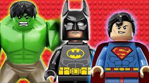 epic lego movie video of batman hulk iron man superman spiderman thor more dc vs marvel comics youtube batman superman iron man