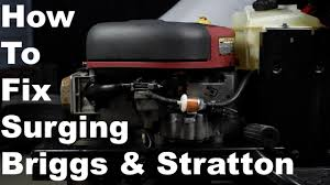 How To Fix Briggs & Stratton Surging Engine | Nikki Carburetor ...