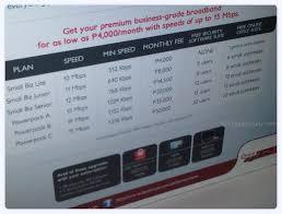 Broadband internet business plan