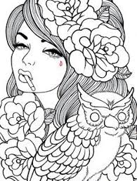 Girl Coloring Pages Hard