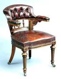 Vintage Wooden Desk Chair Swivel Antique Wood  Office Old  Chairs For Sale E30