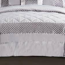 3 piece sequin quilted comforter