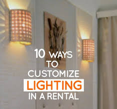 living room wall lighting. 10 ways to customize lighting in a rental apartment living room wall