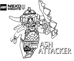 Small Picture Ash Attacker Coloring Page Printable Sheet LEGO Nexo Knights