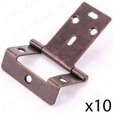 offset piano hinges. 10x cranked antique brass 50mm/2\ offset piano hinges