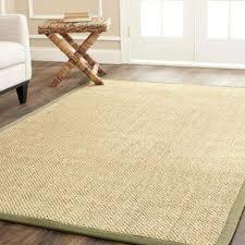 area rug natural fiber beige green 9 ft x 12 ft area rug