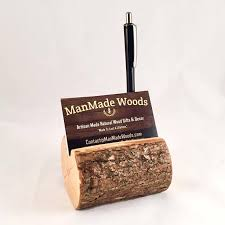 wooden business cards wood business card holder wood pen holder with bark desk business card holder wooden card and pen holder real tree wood card holder