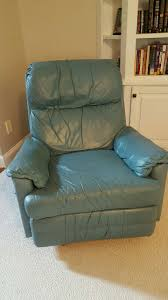 letgo teal leather rockerrecliner in riverchase al teal chair rocking recliner sofa