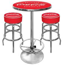 vintage coca cola 2 stools and table combo car guy garage