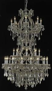 elegant lighting 2800d36sgt gt rc crystal maria theresa chandelier golden teak smoky