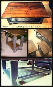expanded metal coffee table end tables