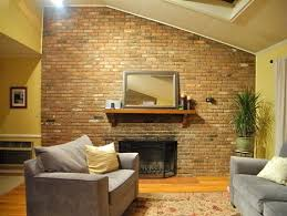 Small Picture Huge Brick Fireplace Wall Needs Facelift Help