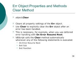 VBScript On Error Resume Next scriptcoding ...